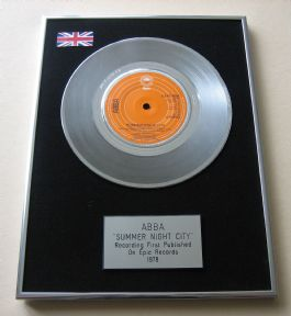ABBA - SUMMER NIGHT CITY PLATINUM Single Presentation DISC